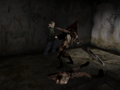 Silent hill 2 blue creek apartments strategywiki the video game walkthrough and strategy - Pyramid head boss fight ...