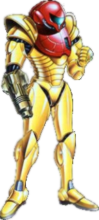 Samus's Power Suit in Metroid II: Return of Samus