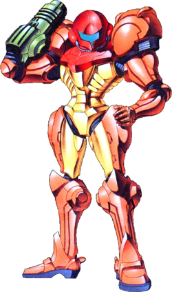 Samus artwork from Super Metroid