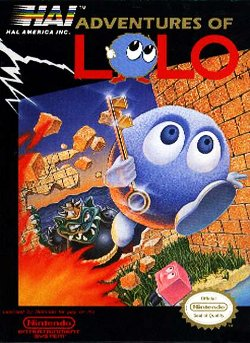 Box artwork for Adventures of Lolo.