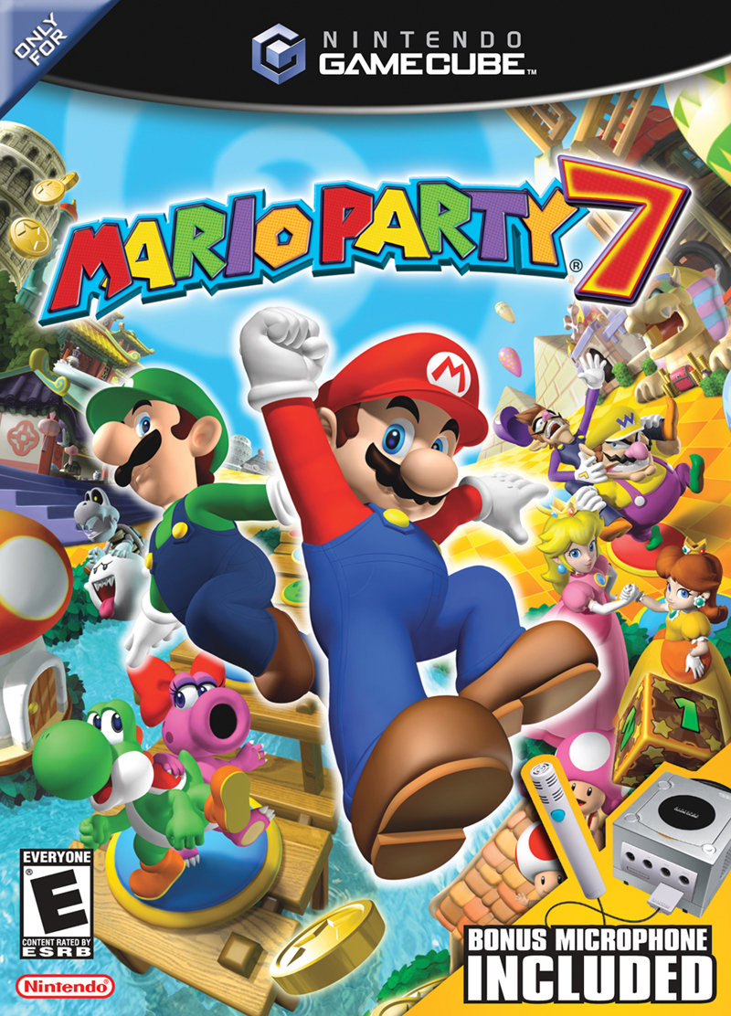Box artwork for Mario Party 7.