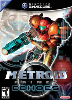 Box artwork for Metroid Prime 2: Echoes.