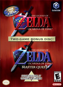 Box artwork for The Legend of Zelda: Ocarina of Time Master Quest.