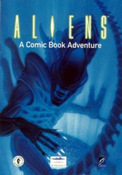 Box artwork for Aliens: A Comic Book Adventure.