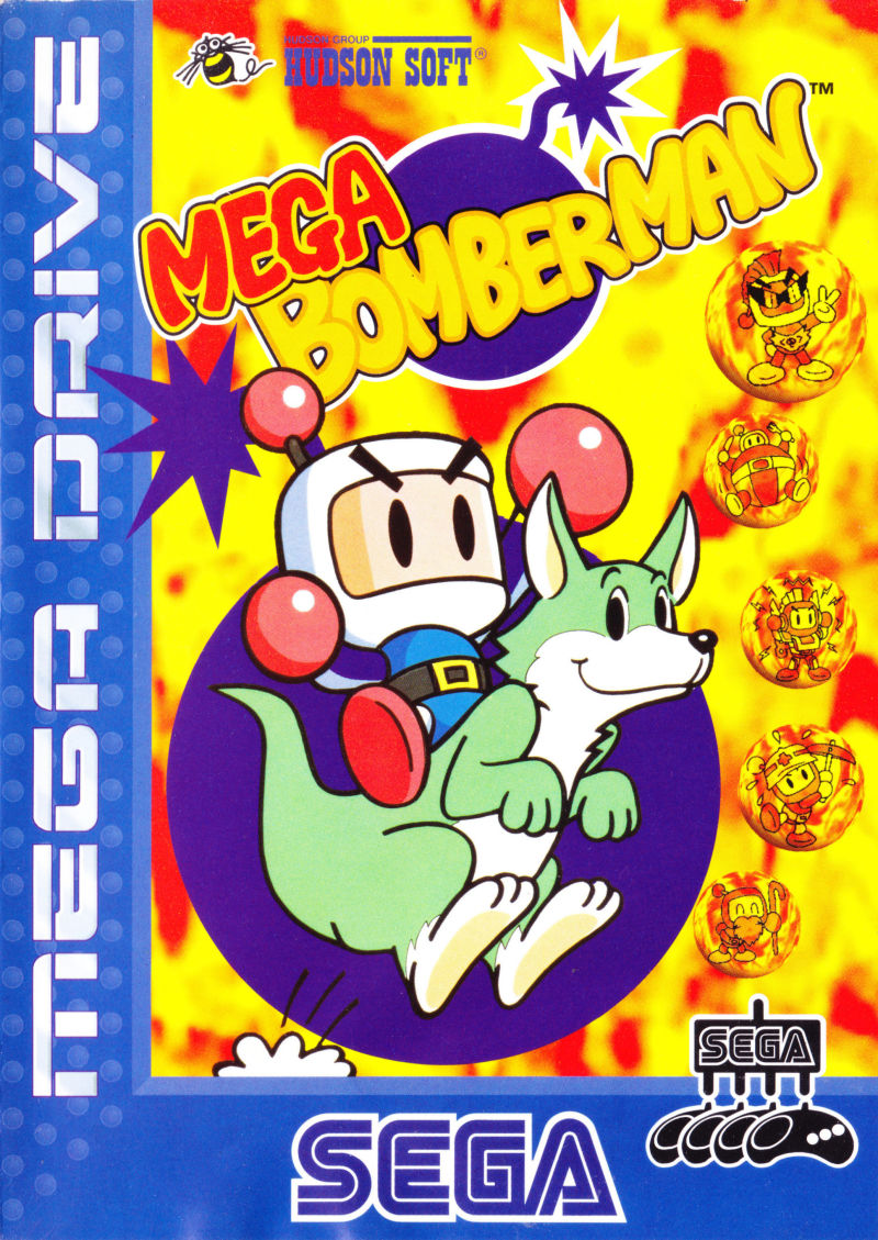Box artwork for Mega Bomberman.