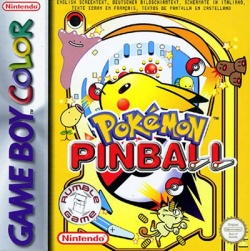 Box artwork for Pokémon Pinball.