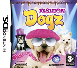 Box artwork for Fashion Dogz.