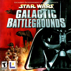 Box artwork for Star Wars: Galactic Battlegrounds.
