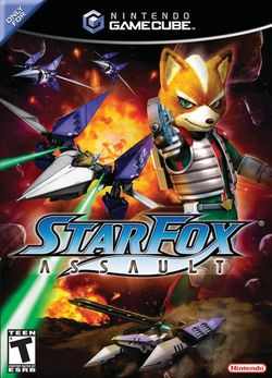 Box artwork for Star Fox: Assault.
