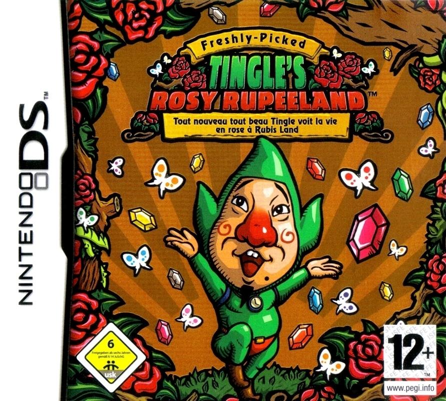 Box artwork for Freshly-Picked Tingle's Rosy Rupeeland.