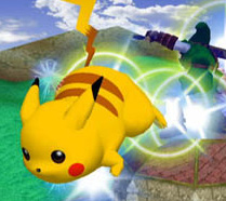 Pikachu uses his Quick Attack