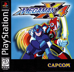 Box artwork for Mega Man X4.