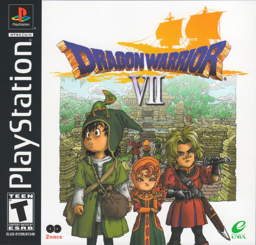 Box artwork for Dragon Warrior VII.