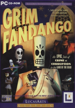 Box artwork for Grim Fandango.