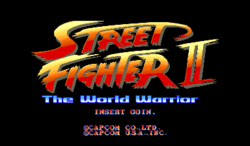 Box artwork for Street Fighter II: The World Warrior.