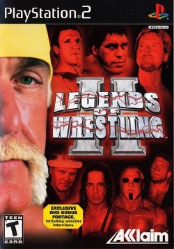 Box artwork for Legends of Wrestling II.