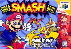 Box artwork for Super Smash Bros..