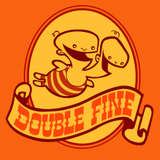 Double Fine Productions's company logo.