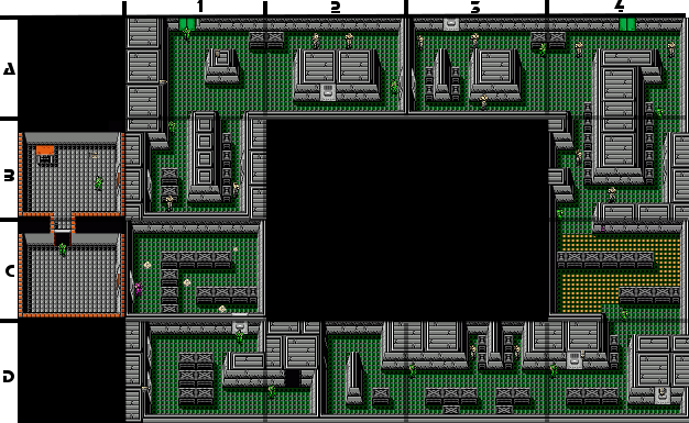 Metal Gear Nes B1 Floor 3 Strategywiki The Video Game