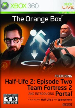 Box artwork for The Orange Box.