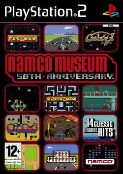 Box artwork for Namco Museum 50th Anniversary.