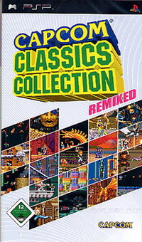 Box artwork for Capcom Classics Collection Remixed.