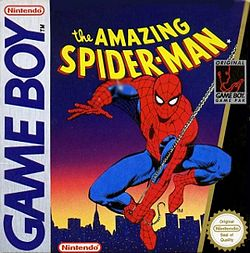 Box artwork for The Amazing Spider-Man (Game Boy).