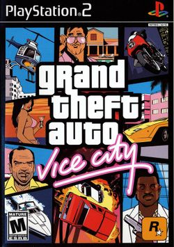 Box artwork for Grand Theft Auto: Vice City.