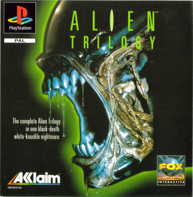 Box artwork for Alien Trilogy.