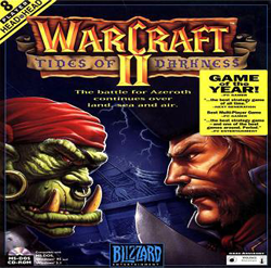 Box artwork for Warcraft II: Tides of Darkness.
