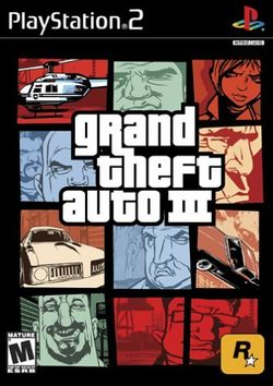Box artwork for Grand Theft Auto III.