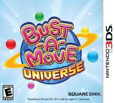 Box artwork for Bust-a-Move Universe.