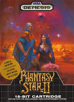 Box artwork for Phantasy Star II.