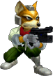 SSBM Trophy Fox McCloud Smash1.png