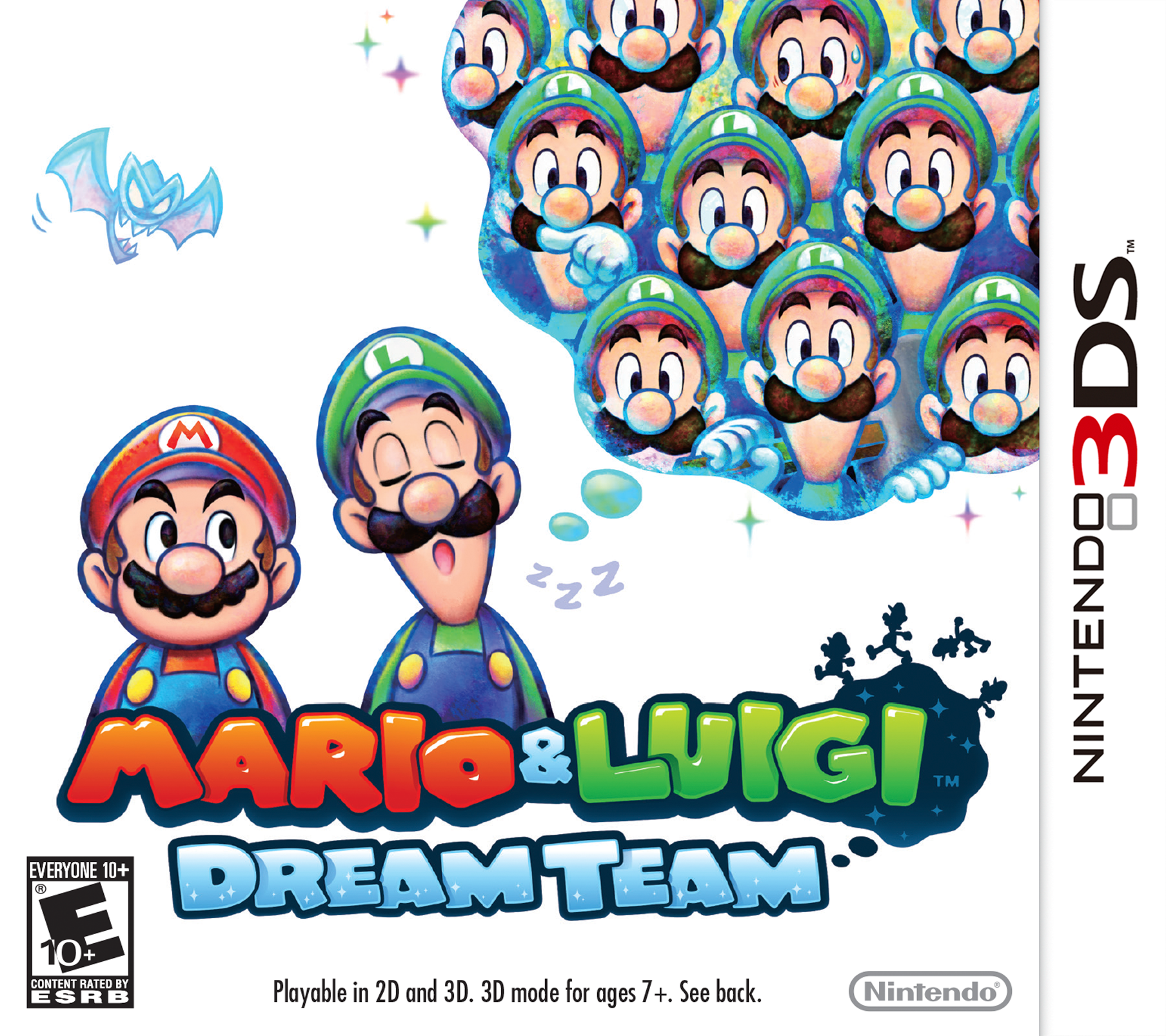 Box artwork for Mario & Luigi: Dream Team.