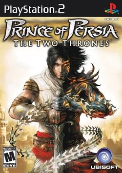 Box artwork for Prince of Persia: The Two Thrones.