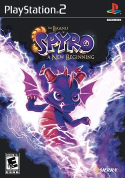 Box artwork for The Legend of Spyro: A New Beginning.