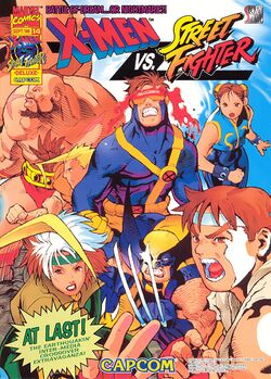 Box artwork for X-Men vs. Street Fighter.