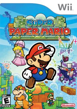 Box artwork for Super Paper Mario.