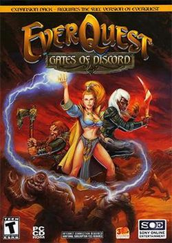 Box artwork for EverQuest: Gates of Discord.
