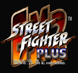 Box artwork for Street Fighter EX 2 Plus.