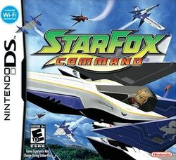 Box artwork for Star Fox Command.