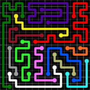 Flow Free Jumbo Pack Grid 14x14 Level 14.png