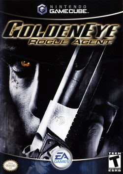 Box artwork for GoldenEye: Rogue Agent.