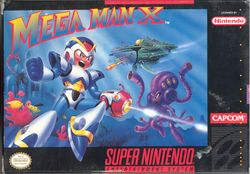 Box artwork for Mega Man X.