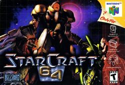 Box artwork for StarCraft 64.