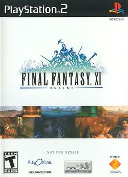 Box artwork for Final Fantasy XI.