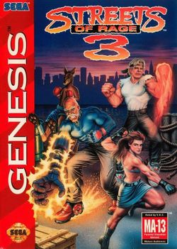 Box artwork for Streets of Rage 3.