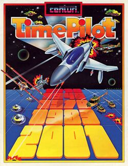 Box artwork for Time Pilot.