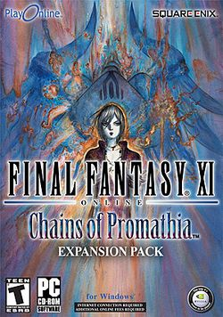 Box artwork for Final Fantasy XI: Chains of Promathia.